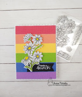 Rainbow Flower Fun a card by Diane Morales| Dainty Daisies Stamp Set by Newtons Nook Designs