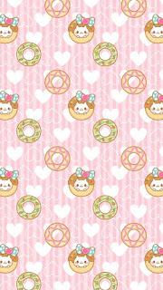 Papel de parede fofinho donuts e gatinhos