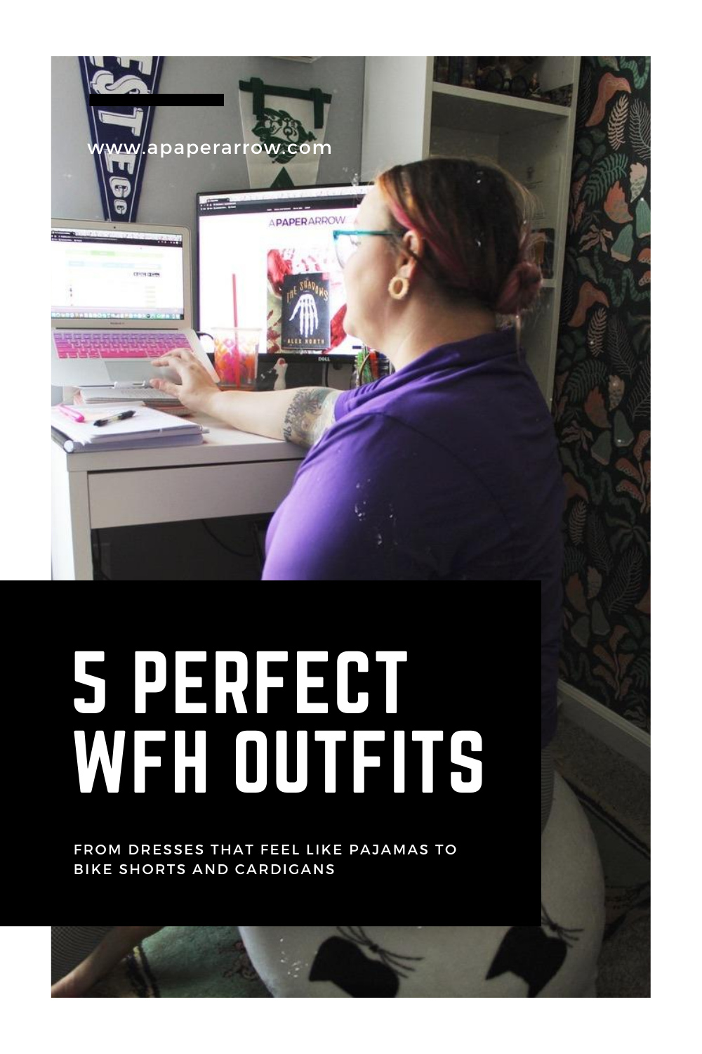 5 perfect wfh outfits, work-from-home, wfh style, wfh fashion, plus-size style, fat fashion, inclusive clothing, quarantine wardrobe