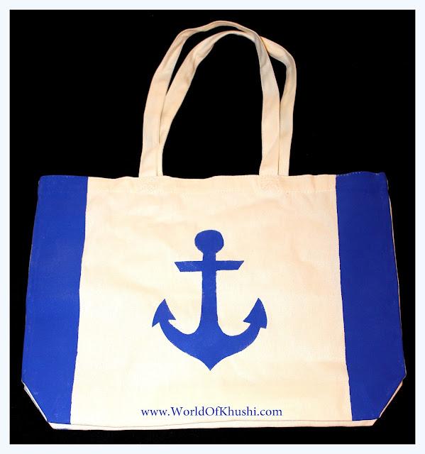 Convert Plain Bag to Beautiful Anchor Tote Bag | DIY