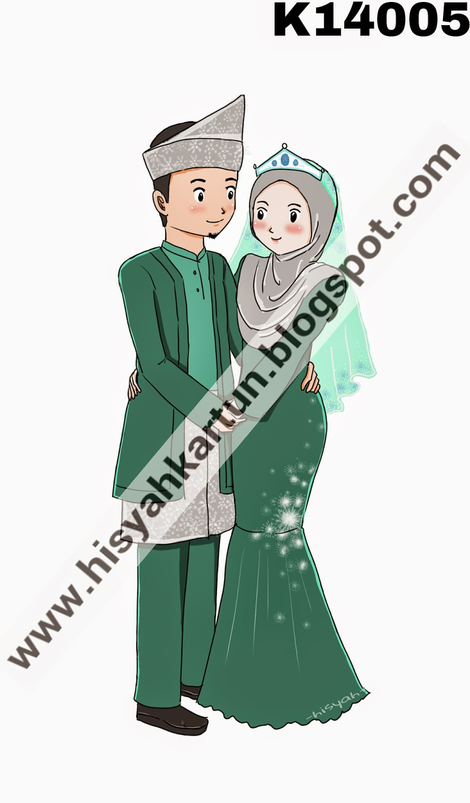 Hisyah Kartun Muslimah Pengantin Muslimah Dan Grafik Muslimah