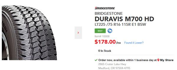 Bridgestone Duravis M700
