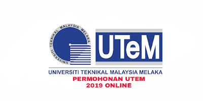 Permohonan UTEM 2019 Online (Second Intake)