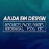 Ajuda em Design: Resources, Packs, Fontes, Referências, PSDs e etc