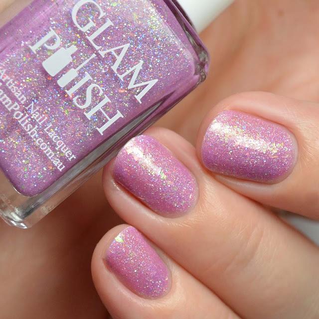 lilac holo nail polish