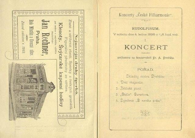 Programme of the first Czech Philharmonic concert  (Photo: archive of the Czech Philharmonic)