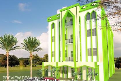 Desain 3d bangunan pesantren murah berkualitas