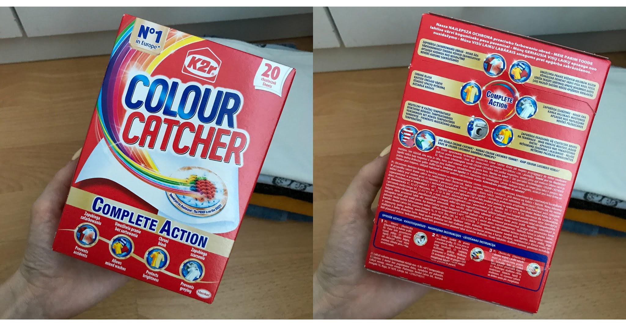 Chusteczki wyłapujące kolor Color Catcher od K2r. Projekt Trnd