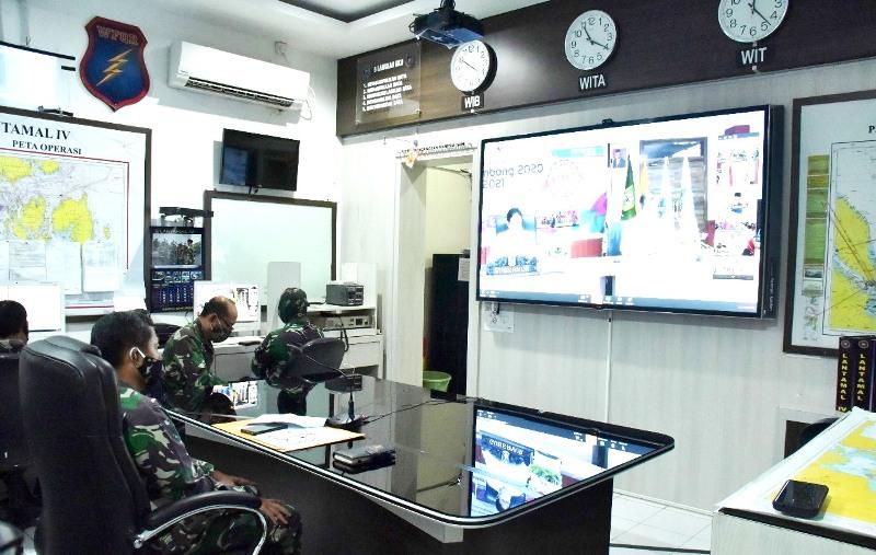 Danlantamal IV Ikuti Acara Musrembang Provinsi Kepri Melalui Vicon