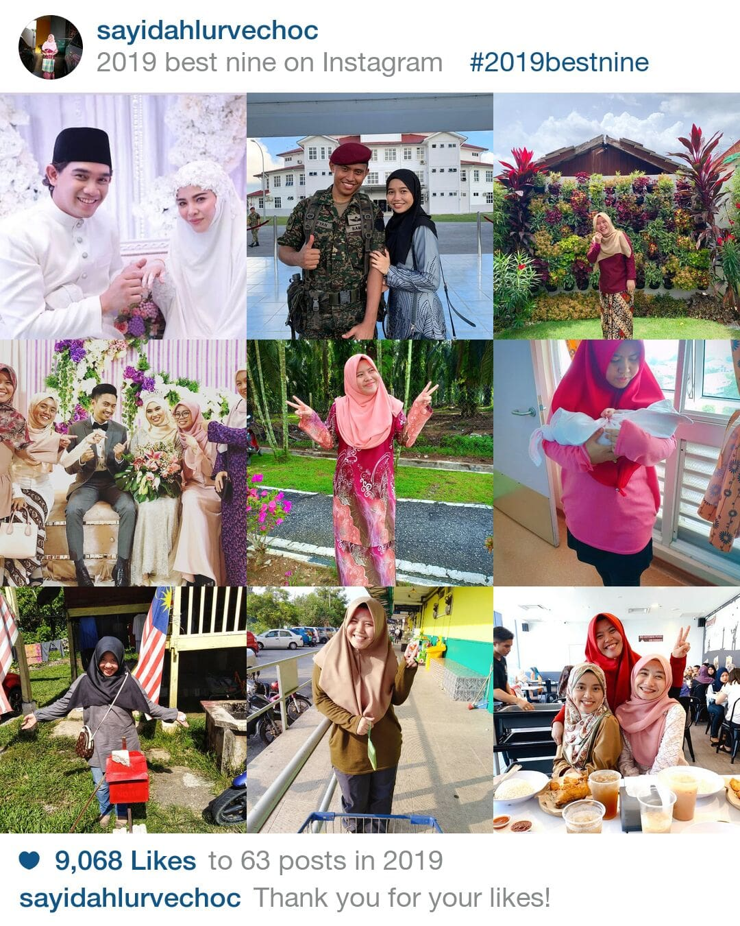 cara buat best nine 2019 on instagram