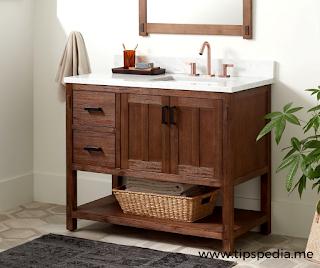 solid wood bathroom cabinets
