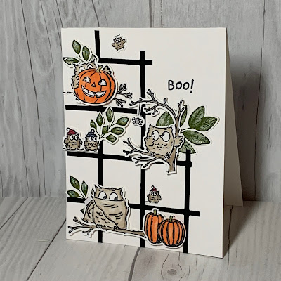 Halloween card idea using Stampin' Up! Have a Hoot Stamp Set