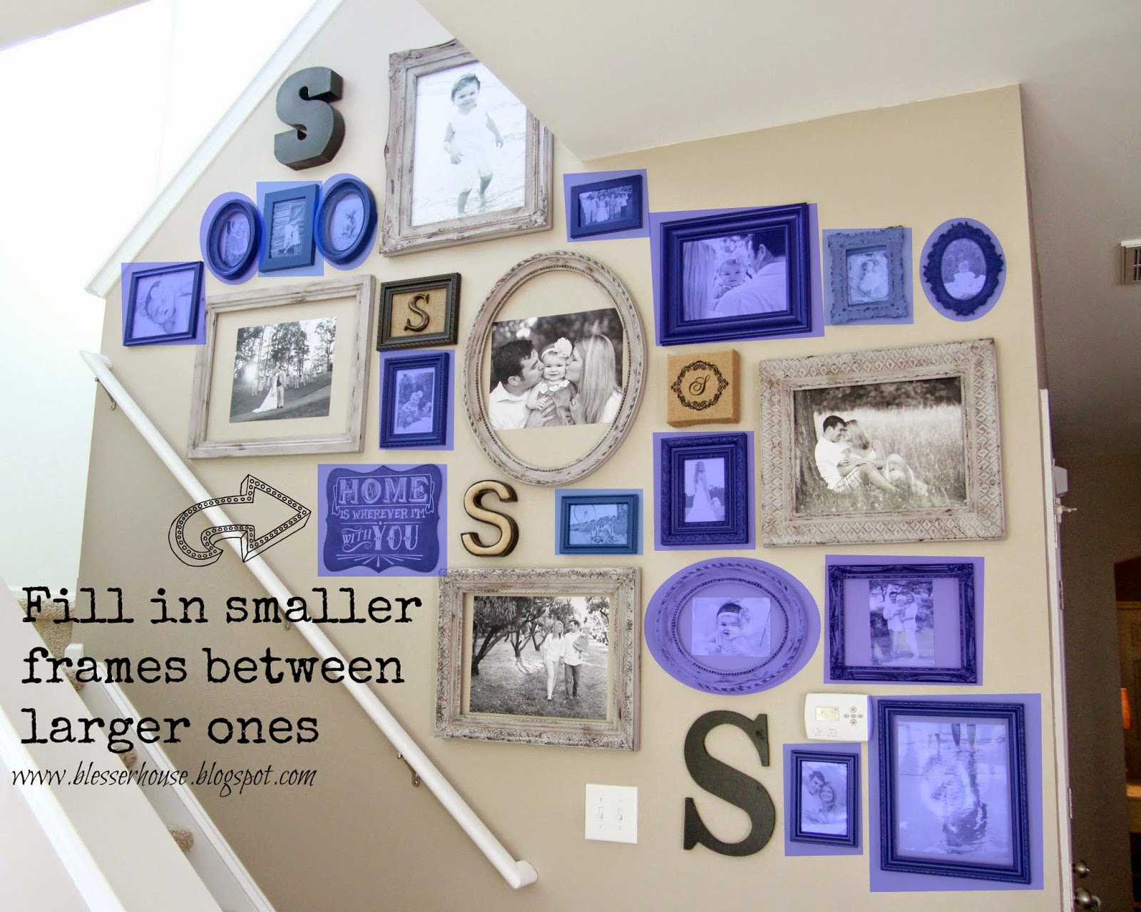 The Most Efficient Way To Create A Gallery Wall Blesser House