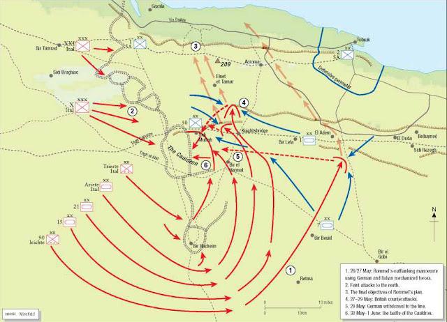 Map of Battle of Gazala 26 May 1942 worldwartwo.filminspector.com