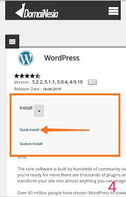 Cara install WordPress mudah di cpanel