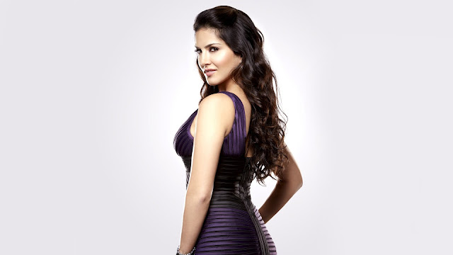 Sunny Leone purple dream Wallpaper