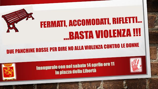 Panchine rosse per dire no alla violenza contro le donne