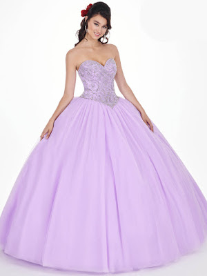 Mary's Quinceanera Ball Gown Design Lilac Color Dress