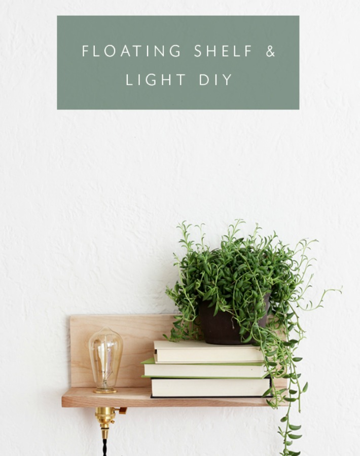 Diy estante de diseño con luz