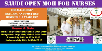 Saudi Open MOH Interview for Female Nurses