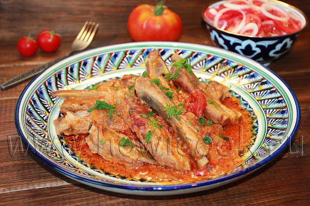 рецепт свиных ребрышек в томатно-сметанном соусе