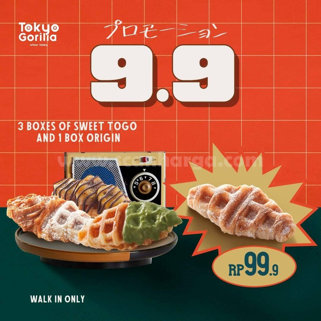 Tokyo Gorilla Promo Flash Sale 9.9 - Paket 3 Box Sweet & 3 Java Latte hanya Rp. 99.999 aja