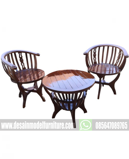 Kursi teras mangkok unik dari kayu jati