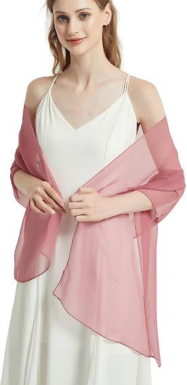 Pretty Sheer Soft Pink Chiffon Scarves Shawls