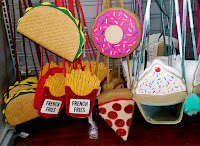 new purses Wal-Mart yummy taco shape french fries sprinkle donut cupcake pizza slice