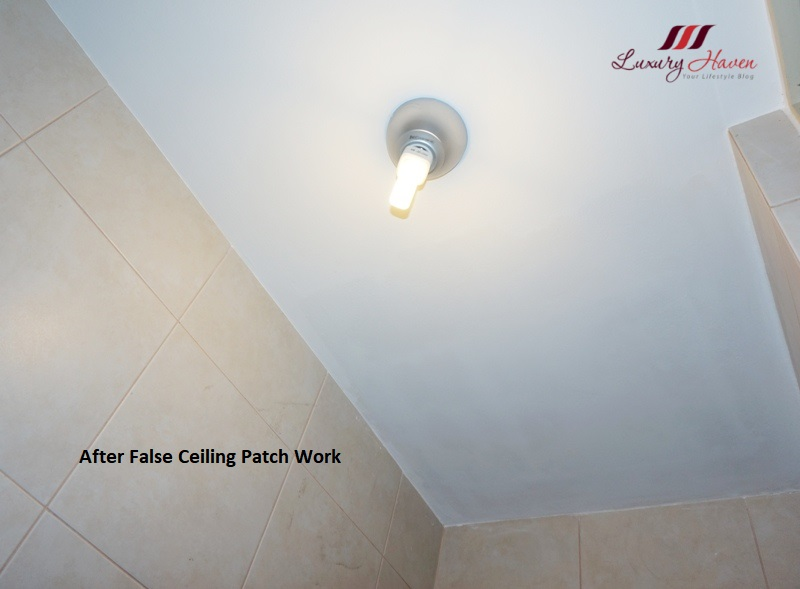 air connection ceiling patch work after