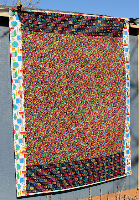 backside of School Days quilt
