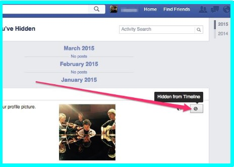 how to unhide a post on facebook timeline