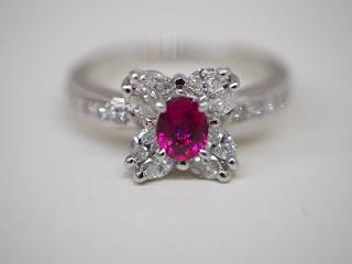 プラチナ900製 ルビー・ダイヤモンドリングをお買い取り致しました