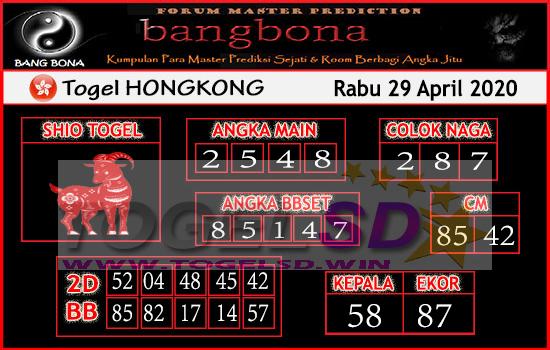 Prediksi HK 29 April 2020 - Bang Bona HK