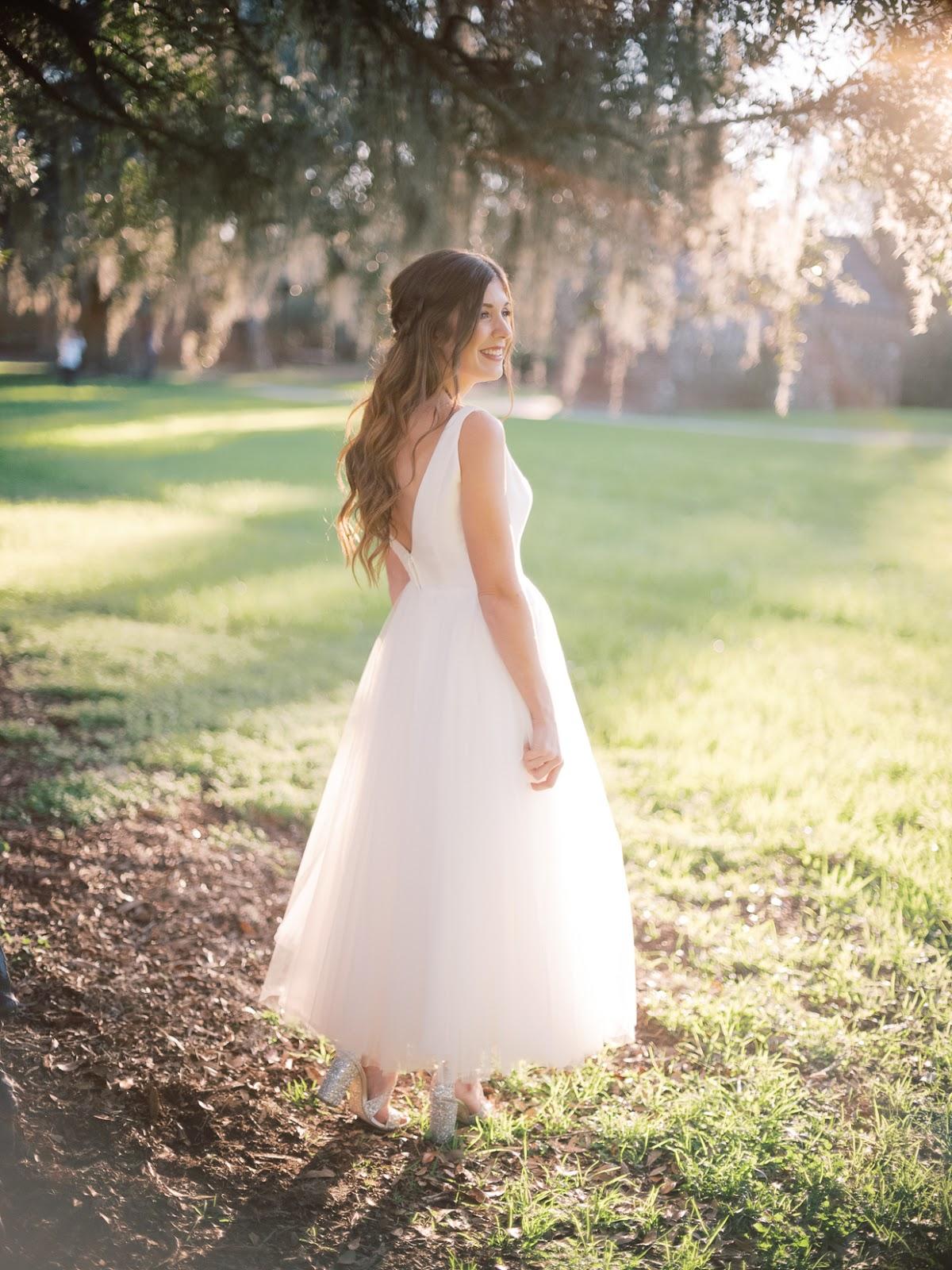 Reception Dress at Boone Hall Plantation - Chasing Cinderella