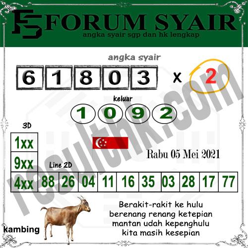 Forum Syair SGP Rabu 05 Mei 2021