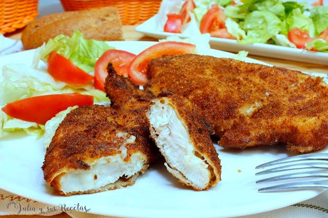 Pechugas de pollo a la Villeroy. Julia y sus recetas