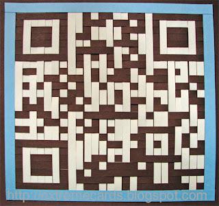 QR code woven birthday card