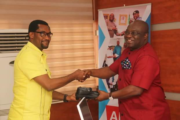 Our doors are open for partnership; @GovernorIkpeazu  ..... Emeka Ikwuagwu Foundation to donate 600 made in Aba shoes to pupils in Abia North.