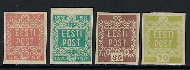 Estonia 1918-19 1-4 Definitive Set