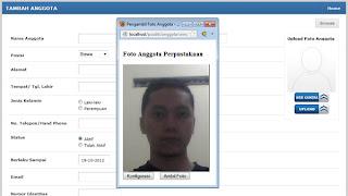 Fitur ini dapat terkoneksi dengan web camera dan secara otomatis dapat mengupload gambar atau foto anggota