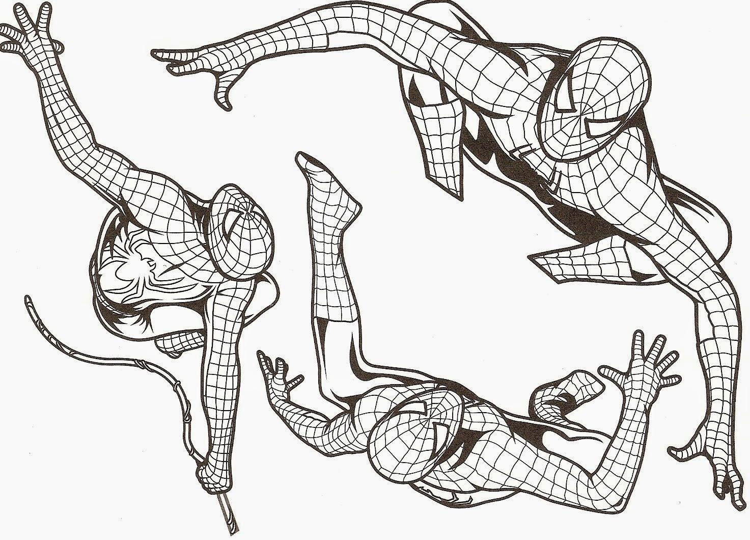 Coloriage Spiderman A Imprimer Liberate