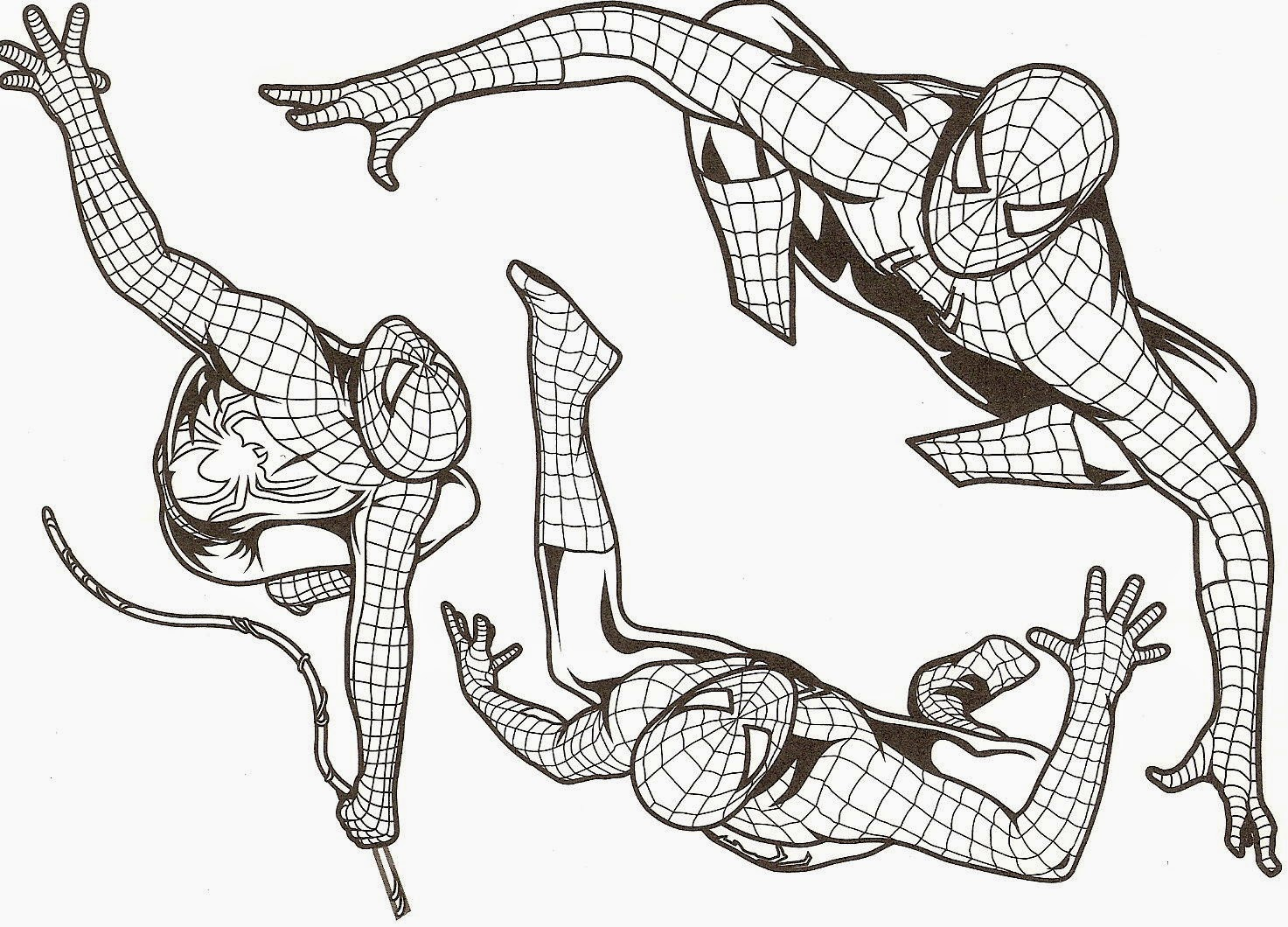 coloriage spiderman imprimer a4
