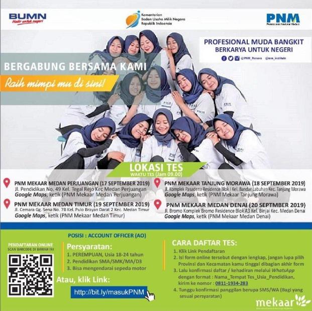 Lowongan Kerja Bumn Pt Pnm Mekaar Rekrutmen Wilayah Medan Medanloker Com Lowongan Kerja Medan
