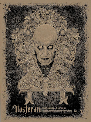 Nosferatu Dawn Edition Screen Print by Timothy Pittides