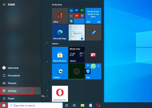 Cara Membuka Setting Windows 10