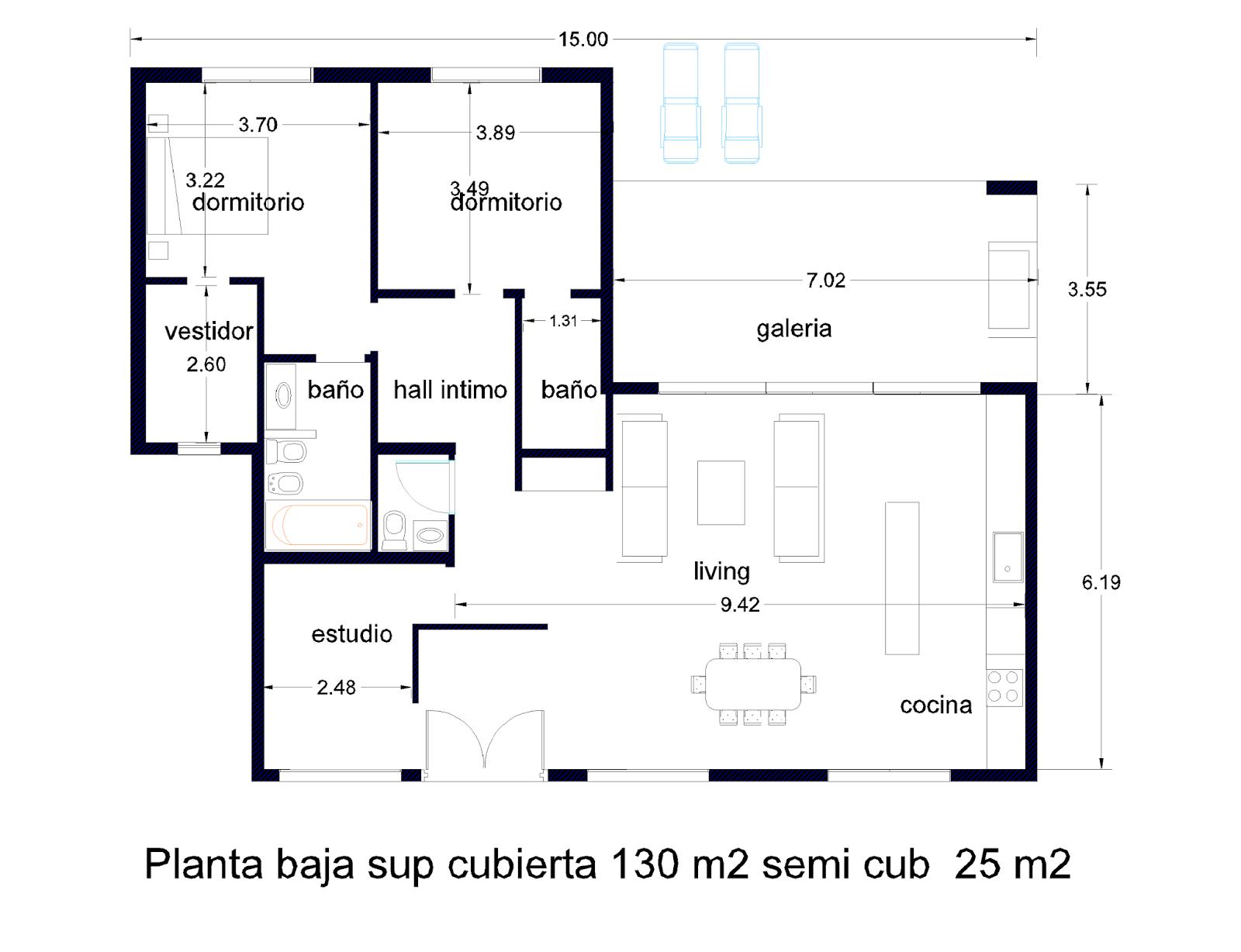Arquitectura y dise o planos for Vivienda minimalista planos