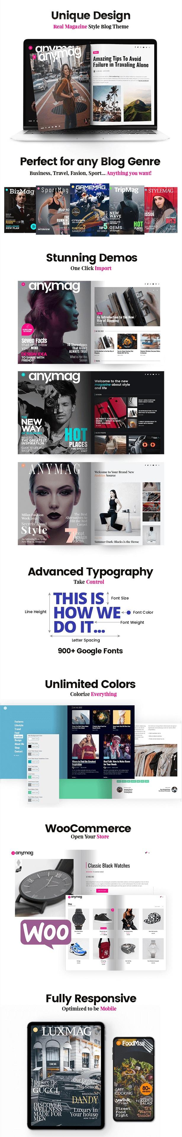 Magazine Style WordPress Blog Theme