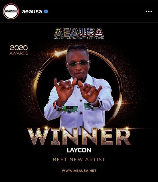 BB Naija Star, Laycon Wins The Best New Artist Award At The AEAUSA