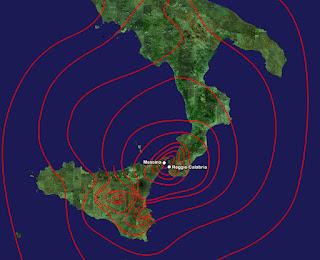 Mapa terremoto de Mesina 1908